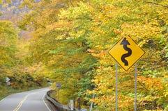 Feuillage d'automne du Vermontn, encoche de contrebandiers, Vermontn photographie stock