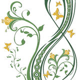 Feuillage de fleurs de guindineaux Images libres de droits
