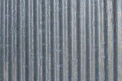 Feuillard ondulé de zinc Photographie stock libre de droits
