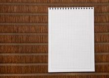 Feuille à feuilles mobiles de note de papier carré Image stock