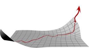 Feuille avec le diagramme de croissance photos libres de droits