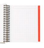 Feuille blanc de cahier Photographie stock