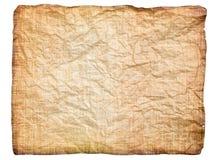 Feuille chiffonnée de papier antique Photographie stock