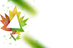 feuille d'érable avec le côté gauche de triangle, fond d'abstrack Image libre de droits