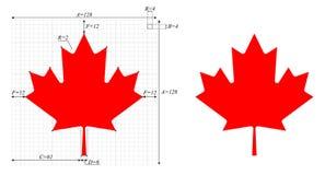 Feuille d'érable canadienne, avec la feuille de construction illustration libre de droits
