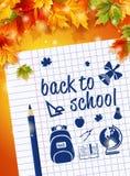 Feuille d'affiche avant le 1er septembre de carnet dessinant Caranda Photos stock