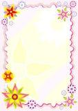 Feuille d'agenda avec des fleurs illustration libre de droits