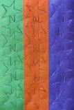 Feuille d'autocollants colorés d'étoile Photos stock