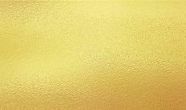 Feuille d'or brillante Photo libre de droits