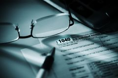 Feuille d'impôt des 1040 USA Image libre de droits