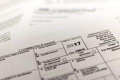 Feuille d'impôt d'IRS : 1099-R Photographie stock libre de droits