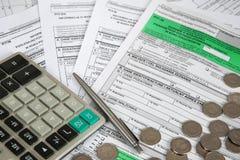 Feuille d'impôt PIT-36 Photographie stock libre de droits