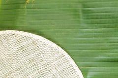 feuille de banane Photographie stock