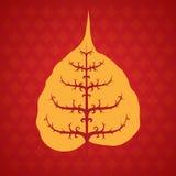Feuille de bodhi d'arbre illustration de vecteur
