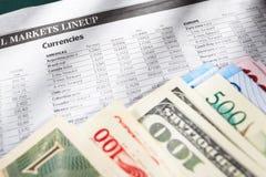 Feuille de devises étrangères Image libre de droits