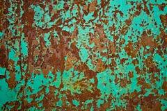 Feuille de fer avec de la rouille Photos libres de droits