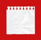 Feuille de livre blanc Photographie stock libre de droits