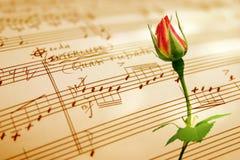 Feuille de musique écrite par main Images libres de droits