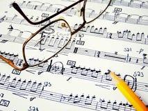 Feuille de musique Photo stock