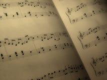 Feuille de musique Photographie stock libre de droits