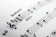 Feuille de musique Image libre de droits
