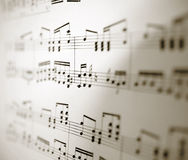 Feuille de notes musicales Photo stock
