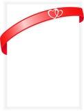 Feuille de papier avec une bande rouge Images libres de droits