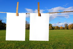 feuille de papier blanc Photos libres de droits