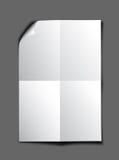 Feuille de papier blanche Photos libres de droits