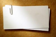 Feuille de papier blanche Images libres de droits