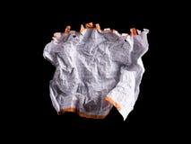 Feuille de papier blanche chiffonnée Image libre de droits