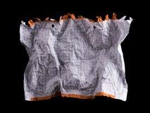 Feuille de papier blanche chiffonnée Photographie stock libre de droits
