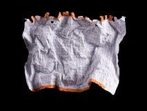 Feuille de papier blanche chiffonnée Photographie stock