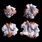 Feuille de papier blanche chiffonnée Images stock