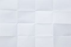 Feuille de papier blanche pliée photos libres de droits