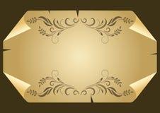 Feuille de papier courbée Photo libre de droits