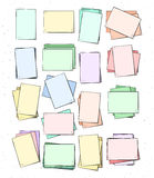 Feuille de papier d'isolement faite main Page dans le style de croquis Photos stock
