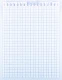 feuille de papier de cahier Photos libres de droits