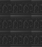 feuille de papier foncée Dot Line de forme de fan de croix de courbe de l'art 3D Images stock
