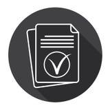Feuille de papier Tick Document Contract Web Icon Illustration Libre de Droits