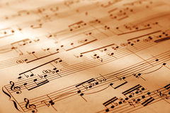 Feuille de symboles musicaux Images libres de droits