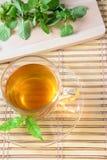 Feuille de thé et de menthe de tasse Image libre de droits