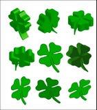 feuille de trèfle de 3d St Patrick Image libre de droits