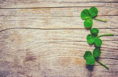 Feuille de trèfle Jour heureux du ` s de St Patrick image libre de droits