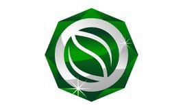 Feuille Diamond Logo Design Template illustration de vecteur