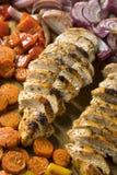 Feuille faite maison Pan Chicken de cétonique photos stock