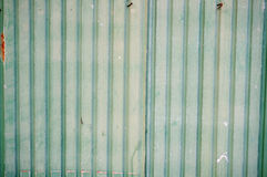 Feuille galvanisée par vert photo stock