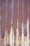 Feuille galvanisée rouillée image libre de droits
