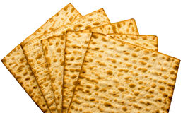 Feuille juive traditionnelle de Matzo Photographie stock libre de droits