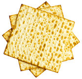 Feuille juive traditionnelle de pain azyme comme fond Photographie stock libre de droits
